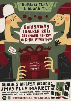Dublin Flea Market Poster by Peter Donnelly, via Behance