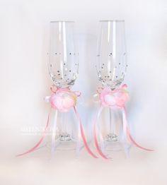 """Бокалы """"Нежность"""" - свадебные бокалы,Бокалы,бокалы для свадьбы,бокалы для шампанского"""