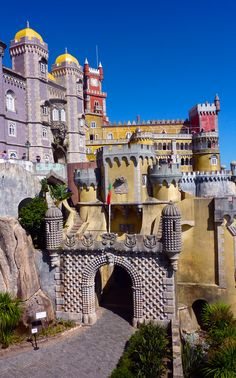 In the century Sintra, Portugal, became the first centre of… Sintra Portugal, Ericeira Portugal, Visit Portugal, Spain And Portugal, Portugal Travel, Beautiful Buildings, Beautiful Places, Portugal Destinations, Pena Palace