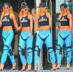 """Rihanna in """"sLutz"""" tank."""