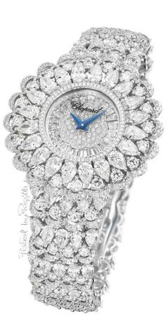 "Haute Joaillerie collection named ""Precious CHOPARD "". Radiating the graceful charm of blooming petals and the joyful fl Cartier, Bling Bling, Stylish Watches, Luxury Watches, Patek Philippe, Beautiful Watches, High Jewelry, Diamond Are A Girls Best Friend, Fashion Watches"