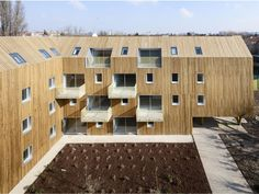 Environmentally-sensitive social housing project in Bondy, France provides a beautiful series of apartments for 34 relocated families. Atelier du Pont (a member of the Plan01 collective) designed the U-shaped residential building, which provides naturally daylit, energy-efficient apartments for low-income families through the social organization Immobilière3F.