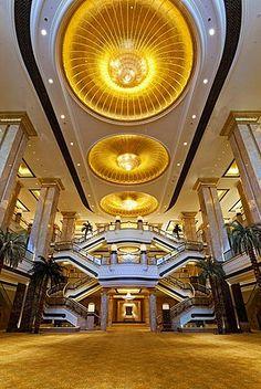 Ornate interior of the luxury Emirates Palace Hotel, Abu Dhabi, United Arab…