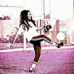 **Bob Marley** Barra da Tijuca, Rio de Janeiro, Brazil, March 1980. ►Football camp of Chico Buarque. ►►More fantastic digital paintings & digital photography artworks, pictures, music and videos of *Robert Nesta Marley* on: https://de.pinterest.com/ReggaeHeart/ #BobMarley #Wailers #TodayInBobsLife #RobertNestaMarley #BobMarleyQuotes #ReggaeHeart