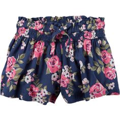 Printed Silky Shorts ($24) ❤ liked on Polyvore featuring baby and girl bottoms