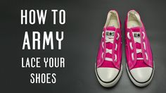 Learn how to Army lace your shoes, very simple instruction for vans, converse and other shoes. Follow these simple tutorial to customize your shoes