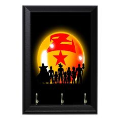 DragonBall Z Characters Shadows Anime Geeky Wall Plaque Key Holder Hanger