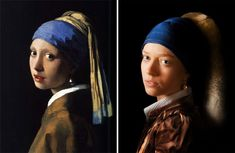 Johannes Vermeer - Girl with a Pearl Earring Johannes Vermeer, Pool Fotografie, Tableaux Vivants, Famous Artwork, First Photograph, Rene Magritte, Henri Matisse, Bored Panda, Painting For Kids