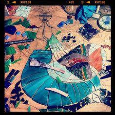 Mermaid Mosaic – Work in Process