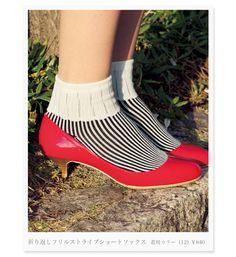 so cute socks! 春の靴下、編み上がりました。