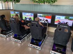 Four Player Race Simulator Hire - Driver Racing Sim Hire Office Christmas Party, Racing Simulator, Family Fun Day, Steering Wheels, Racing Seats, Office Parties, Arcade Games, Corporate Events, Scores