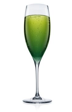 green champagne cocktail
