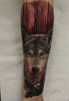 Wolf tattoo by Ash Higham at Rapture Tattoo Studio