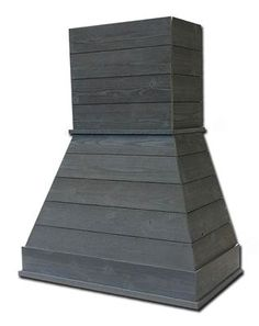 Castlewood's Shiplap 'Rustic' Range Hood employs the shiplap look and construction and is pre-primed for painting or over stain.