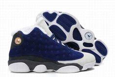 Air Jordan 13 (XIII) Retro Shoes Flints White Black $99.99