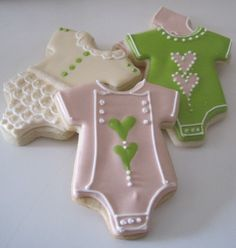 Baby Onsie Cookies, by JustCrumbs... just an idea for my baby shower one day