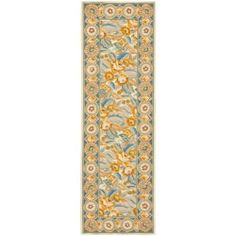 "Safavieh HK1C H Chelsea Collection Hand-Hooked Wool Area Runner, 2-Feet 6-Inch by 12-Feet, Ivory by Safavieh. $135.00. 100% wool pile. The handmade, hand-hooked construction adds durability to this rug, ensuring it will be a favorite for many years. This rug features an ivory background and displays a stunning floral pattern in shades of ivory, blue, gold and pink. This runner measures 2'6"" by 12'. The modern style of this rug's iron trellis pattern will give your room a c..."