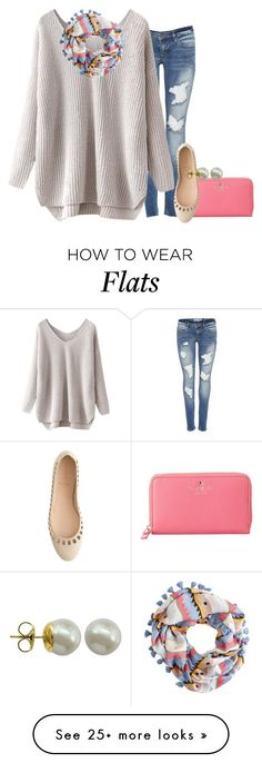 """☮"" by pumpkinsandprep on Polyvore featuring J.Crew, Kate Spade and Majorica"
