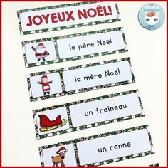 French Christmas word wall cards, graphic organizers, and writing prompts – NOËL French Christmas, Christmas Words, French Teacher, Teaching French, Wall Writing, Writing Prompts, Read In French, Learn French, French Immersion