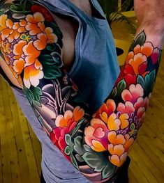 Japanese tattoo sleeve by edsarmay japaneseink japanesetattoo irezumi tebori colortattoo colorfultattoo cooltattoo largetattoo japanese tattoos irezumi mind blowing japanese tattoos with meaning Japanese Tattoo Women, Japanese Sleeve Tattoos, Japanese Peony Tattoo, Japanese Back Tattoo, Tattoo Girls, Girl Tattoos, Traditional Tattoo Flowers, Traditional Japanese Tattoos, Irezumi Tattoos