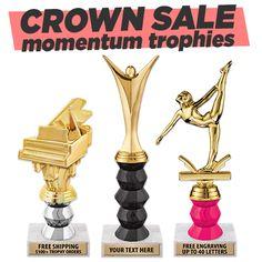 Crown Awards 5 1//4 Dance Sculpture Dance Sculptures with Customized Text