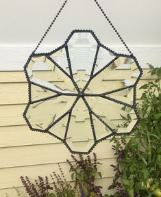 Items similar to Suncatcher - Beveled Glass - Clear Stained Glass - Victorian - Stain Glass - Antiqed Finish - Beaded - Window Hanging - Clear - Hand Crafted on Etsy Gold Glass, Beveled Glass, Glass Art, Tiffany, Star Ceiling, Antique Windows, Window Hanging, Stained Glass Projects, Night Lamps