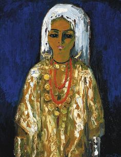Kees Van Dongen (1877-1968)  L'Ouled Naïl  signed 'van Dongen' (lower right); signed with the artist's initials, titled and inscribed 'VD Ou...