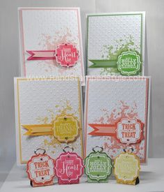 Stampin' Up! Tags 4 You simple cards and photo place holders