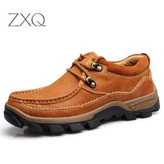 74.47$  Watch now - http://alid3w.worldwells.pw/go.php?t=32792999409 - ZXQ High Quality Handmade Men Genuine Leather Shoes Flat Designer Shoes Casual Oxfords Shoes For Men Ourdoor Footwear