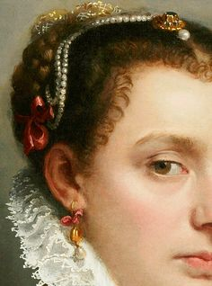 Battista. Detail from Portrait of a Young Lady, 1565.