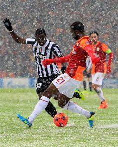 Gala vs Juve.  snow