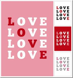 """LOVE"" Valentine Printable"
