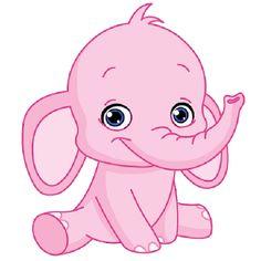 Pink Elephant Cute Cartoon Clip Art Images