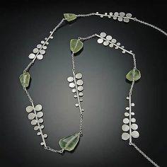 Fern Necklace: Ananda Khalsa: Silver  Stone Necklace - Artful Home