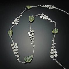 Fern Necklace: Ananda Khalsa: Silver  Stone Necklace - Artful Home