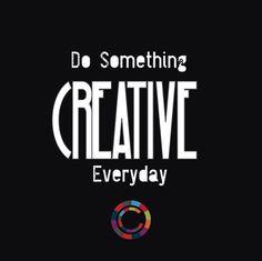 BE CREATIVE #design #love #graphic #color #rainbow
