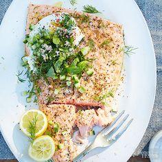 Roasted Salmon with Herbs and Yogurt