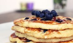 Luchtige blueberry pancakes