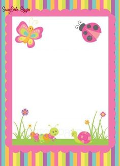 Printable Border, Printable Lined Paper, Frame Border Design, Page Borders Design, Children's Day Craft, Letterhead Paper, Butterfly Stencil, Boarders And Frames, Owl Classroom