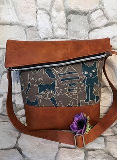 Umhängetaschen - FoldOver Tasche,  Katze, Kollektion 2017!! - ein Designerstück von Kleine-Wollbude bei DaWanda