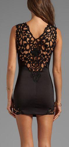 Lace back LBD