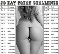 It really works! Squats are the secret to a nicer and more firm booty #fitness