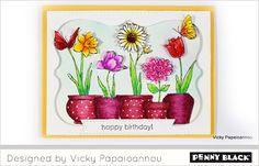 #pennyblack stempel 40-518 Potted Flowers uit de celebrate collectie