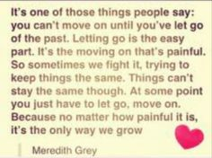 I love meredith greys quotes