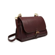 Small Chiltern Satchel in Oxblood Natural Grain Leather | Family | Mulberry