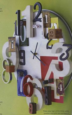 """It has whimsy.  I like whimsy. """"DIY clock""""  Uhohhhh... @Jolene Jenkins are you seeing this????"""
