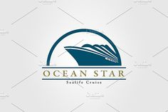 Ocean Travel and Cruise Logo vol.04 by EngoCreative.com on @creativemarket