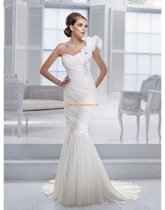 RONALD JOYCE INTERNATIONAL Meerjungfrau Brautkleider aus Chiffon