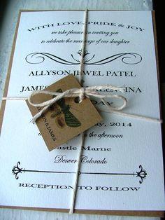Wedding Invitations: Shabby Chic Lovely - deposit to begin. $100.00, via Etsy.