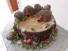 Ideas For Cupcakes Versieren Egel Fancy Cakes, Cute Cakes, Pink Cakes, Fun Cupcakes, Cupcake Cakes, Beautiful Cakes, Amazing Cakes, Sonic The Hedgehog Cake, Log Cake